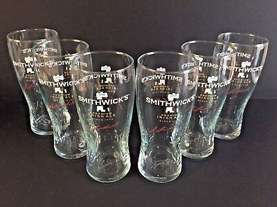 Smithwick's Premium Irish Ale 20 Ounce Glass Set Of (6) Smithwicks Glasses ~ NEW