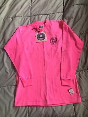 Vintage L.A. Gear New With Tags Hot Pink Medium Long Sleeve T-Shirt 1980 1990