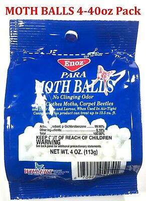 Enoz Moth balls para Kills Clothes moths carpet beetle no cling odor Repels Pest