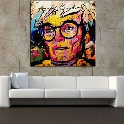 """Alec Monopoly Oil Painting on Canvas Graffiti art wall decor Andy Warhol 28x28"""""""