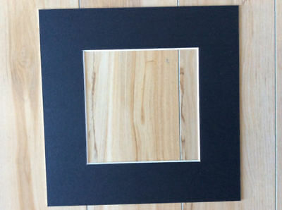 "6 x Professional Picture Framing Mat Boards 12x12"" with 8x8"" Window"