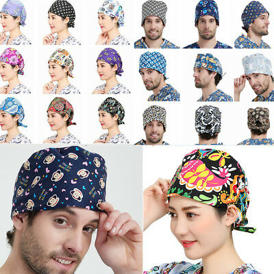 72 Kind Women Men Printing Scrub Surgery Cap Doctors Nurses Medical Surgical Hat