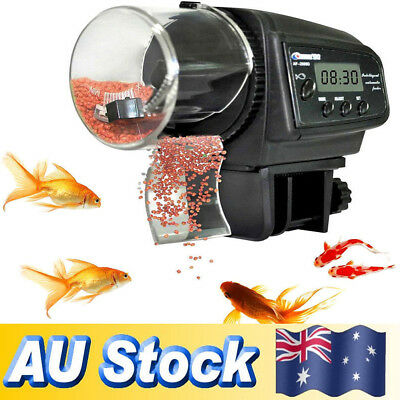 Aquarium Tank Pond Feeding Timer Digital LCD Auto Automatic Fish Food Feeder CS