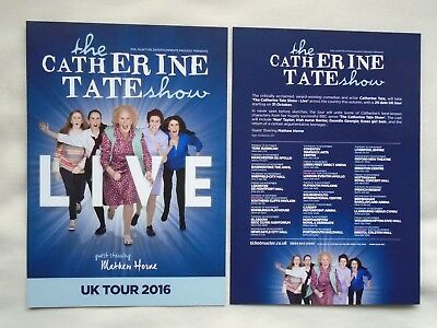 The CATHERINE TATE show Live event 2016 UK Tour promotional tour flyers x 2