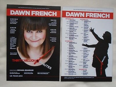 DAWN FRENCH Live event Thirty Million Minutes 2014 UK Tour Promotional flyers