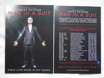 """FRANK SKINNER Live theatre event """"Man in a Suit"""" 2014 UK Tour Promotional flyers"""