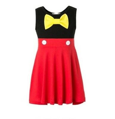 Mickey and Minnie Mouse Disney Inspired Dress size 6m 12m 18m 2 3 4 5 6 7 8 dash