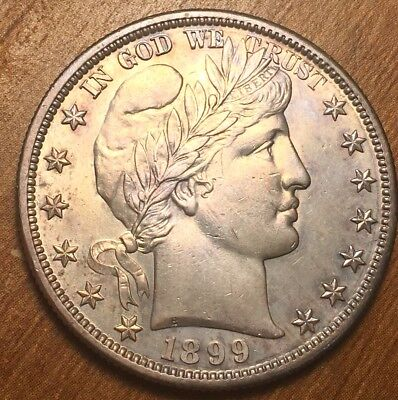 1899-S Barber Silver Half Dollar from Uncirculated Set. All the detail no wear +