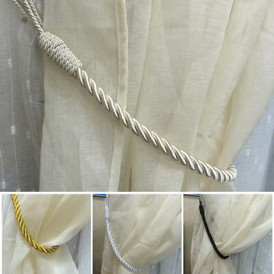 "Pair Plain Rope Curtains Tie backs Tiebacks Decorative Holdback 27"" Long"