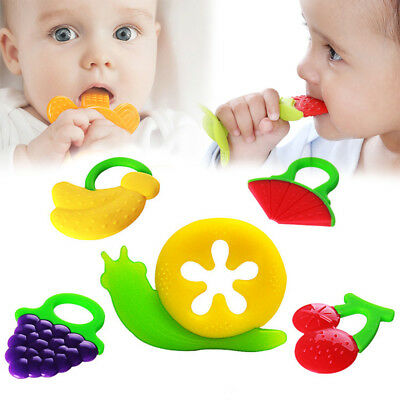Safety Baby Toddler Teether Chew Toy Molar Rod Silicone Soft&Safe Teeth Stick GK