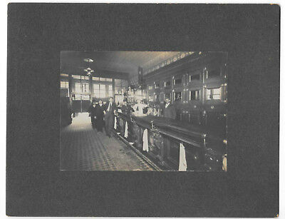 Antique Cabinet Photo, Old Pre-Prohibition Saloon c1910 w/African-American Man