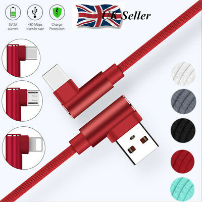 UK Strong Lightning Braided 1~3M USB Charger Cable For iPhone 6 6S 7 8 X IPad