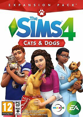 The Sims 4: Cats & Dogs Expansion Pack (PC)  BRAND NEW AND SEALED - CODE IN BOX
