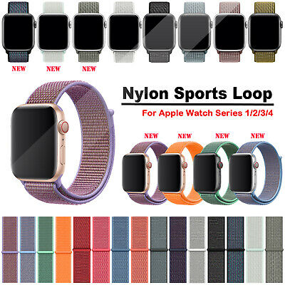 40/44/38/42mm Nylon Sports Loop Apple Watch Strap Band for iWatch Series 4 3 2 1