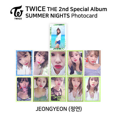 TWICE : 'SUMMER NIGHTS DANCE THE NIGHT AWAY' Official Photocard - Jeongyeon