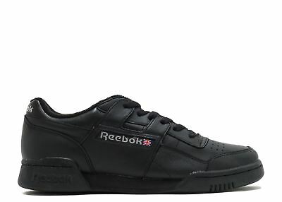 Reebok Workout Plus Vintage Trainers Mens Black Sneakers Gym Shoes Footwear 13355a93d