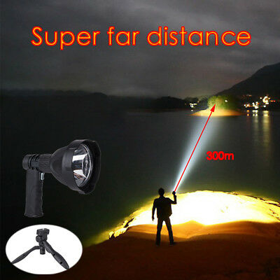 Handheld Camping Spotlight LED Rechargeable Flashlight Outdoor Work Lamp Torch