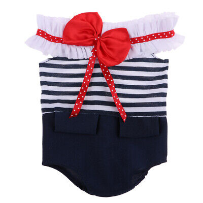 """Cute Bowknot Swimwear Summer Clothes for 18"""" American Girl My Life Doll Blue"""