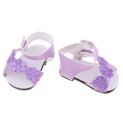 "Sandals Summer Outfit for 18"" American Girl Our Generation Doll Purple Shoes"