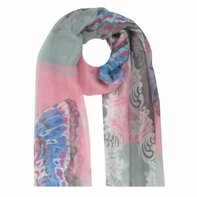 Scarf Neckerchief Silk Floral Pattern Butterfly Serif Multicolour Many Colors
