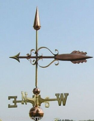 "Copper   ""fancy Arrow "" Weathervane  Made In Usa #342"