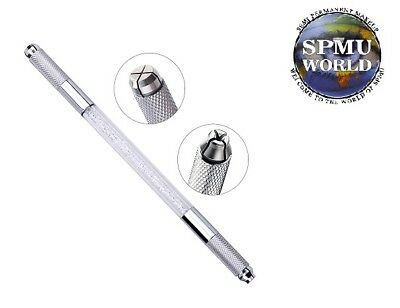 Microblade Holder Silver CRYSTAL Double Ended Microblading Pen SPMU Tool