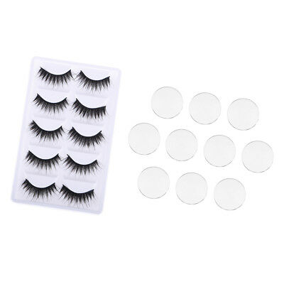 5 Pairs Eyelashes And 5 Pairs Eyechips Glass For Blythe Doll Eys Making
