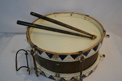 Wwii Original German Very Rare Early Youth Parade Snare Drum With Sticks Ww2