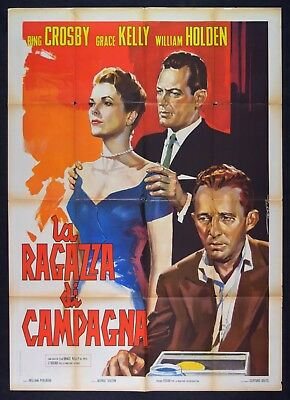 M162 MANIFESTO 2F  LA RAGAZZA DI CAMPAGNA,Country Girl,GRACE KELLY,Bing Crosby