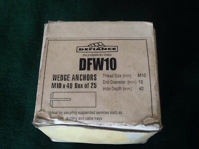 New m10 wedge anchor in box 25