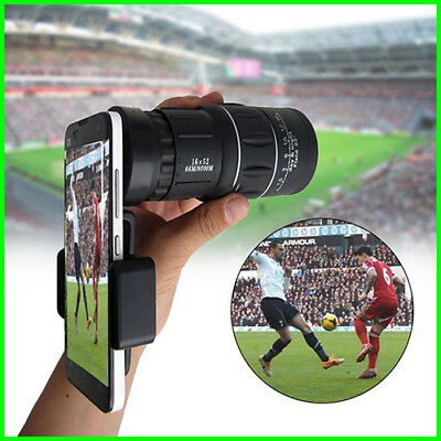 2018 New Waterproof 16X52 High Definition Monocular Telescope-Bak4 Prism For Wil