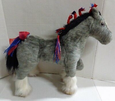 Breyer Majesty Grey Shire Draft Horse Plush Ribbons #4542