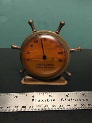 JARVIS ELECTRIC Vintage Shipwheel Thermometer, Camden, New Jersey