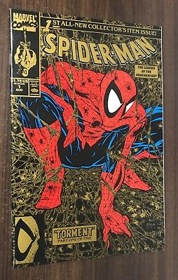 SPIDER-MAN #1 -- Todd McFarlane -- Gold Variant -- NM- Or Better