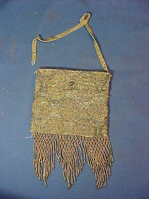 1920s ART DECO French STEEL PURSE in GOLD + SILVER