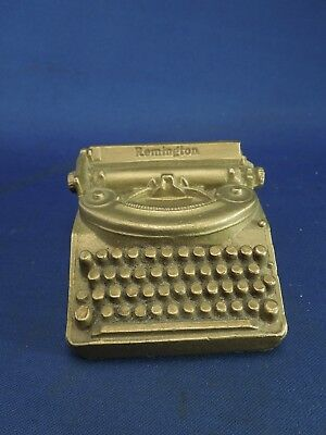 Copper painted Remington Typewriter Paperweight/Bank from 1939 World's Fair