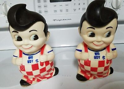 BUY IT NOW Vtg.Retro Bobs Big Boy 1970's Collectible Coin Money Bank Soft Rubber