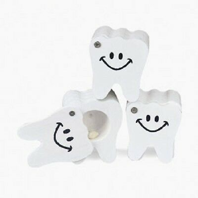 Lot of 12 White Wooden Tooth Fairy Boxes Treasure Keepsake