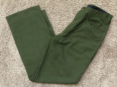FSS Aramid Wildland Firefighter Pants Green Made in USA Size 36x34