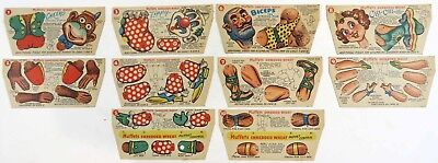 1951 (3) Sets Of Quaker Muffets Shredded Wheat Circus Puppets Punch-Out Cards