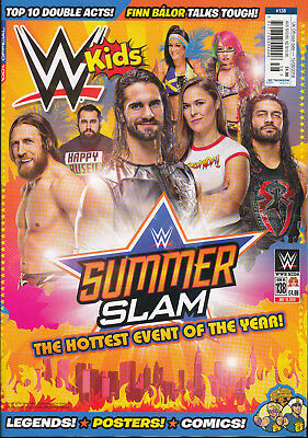 WWE Kids Magazine August 2018 SummerSlam Carmella,Finn Balor New Day