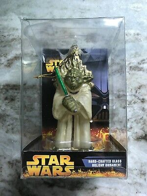 Star Wars Hand-crafted Glass Yoda Ornament