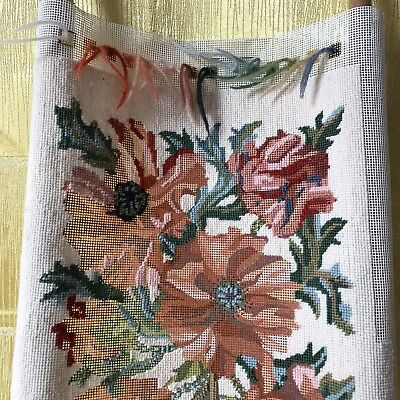 """Joanna Allen Tapestry Poppies 17"""" x 13.5"""" Unfinished & Needlepoint Frame MO 960"""