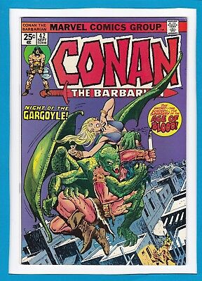 "Conan The Barbarian #42_Sept 1974_Very Fine_""night Of The Gargoyle""_Bronze Age!"