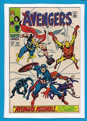 AVENGERS #58_NOVEMBER 1968_VERY FINE_2nd APP & ORIGIN OF THE VISION_SILVER AGE!