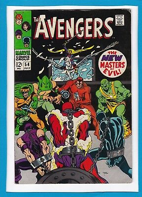 AVENGERS #54_JULY 1968_F/VF_1st BRIEF APPEARANCE ULTRON 5_SILVER AGE MARVEL!