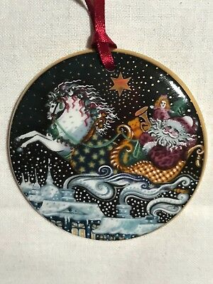 Bing & Grondahl  - Annual Christmas Ornament - 1991 - Santa Claus The Journey