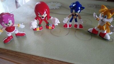 """4 x figures 3"""" high sonic the hedgehog and friends"""