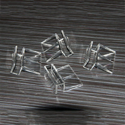 Aquarium Tank Glass Cover Transparent Acrylic Clips Clamp Support Holder 797E