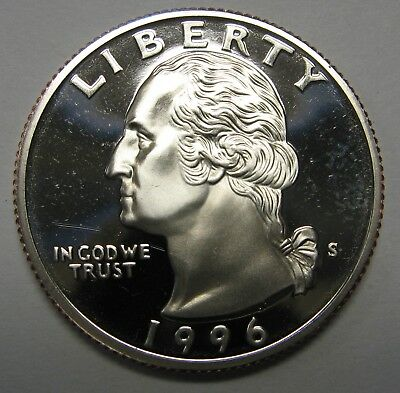 1996-S Proof Washington Clad Quarter Shipped FREE Best Price on Ebay Nice Coins!